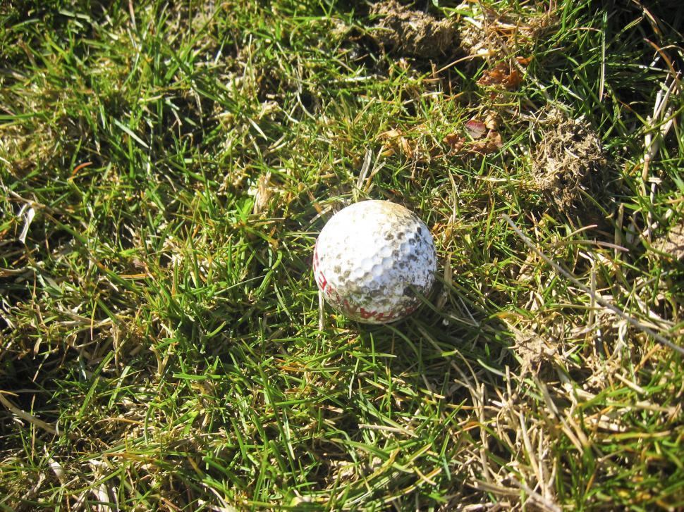 dirty golf ball